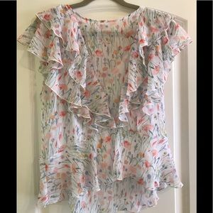 Bailey 44 flower print shirt with attached cami